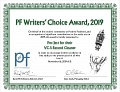 Награда PF Writers' Choice Award